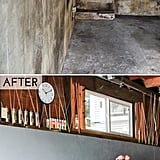 Colored string and fresh paint helped create a bright office and studio space in this garage makeover from The Crafted Life — and there's still room for tons of storage!
