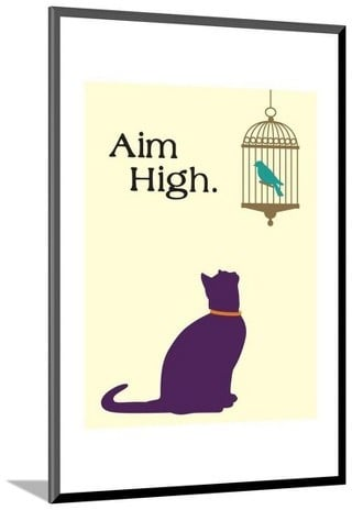 Art.com Aim High by Cat is Good Mounted Print