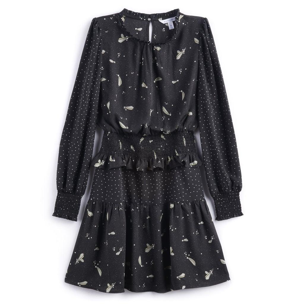 Mixed-Print Mini Dress