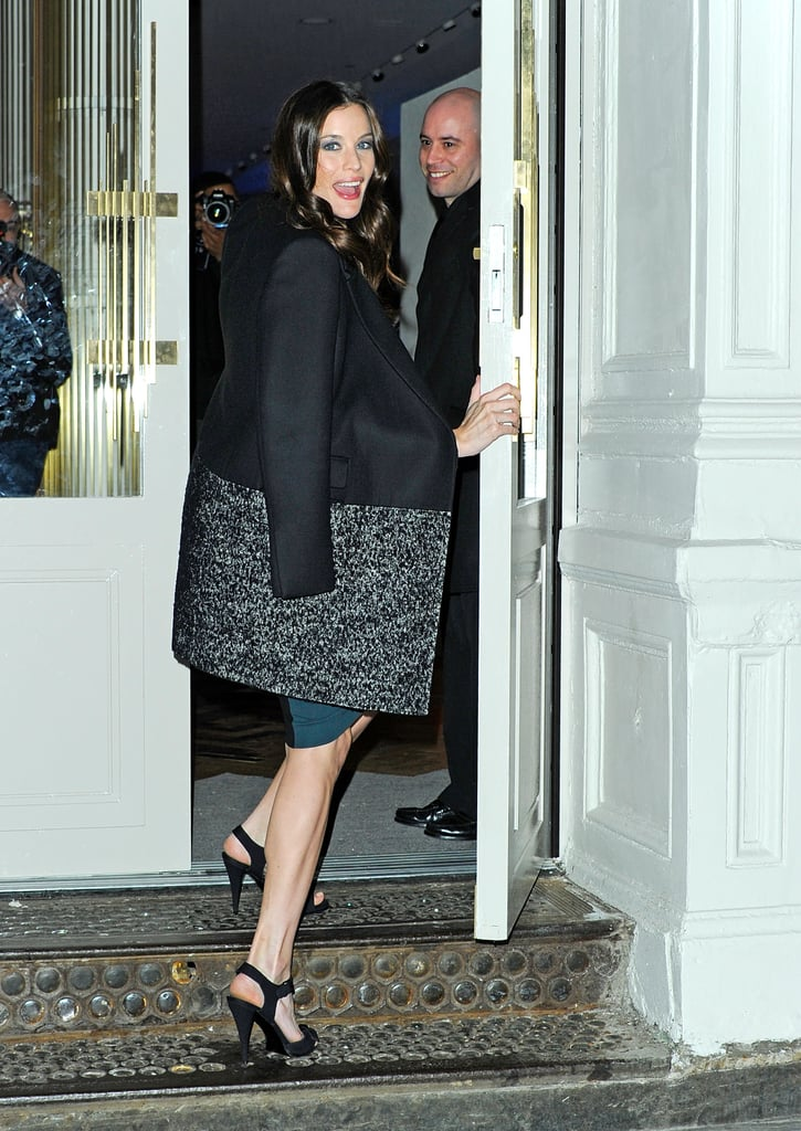 Liv Tyler headed into the Stella McCartney SoHo store in NYC.