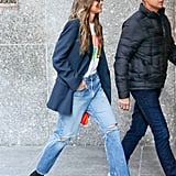 Style Your T-Shirt With: Jeans, A Blazer, and Boots