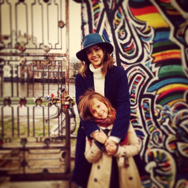 Jessica Alba toured Berlin —and visited the Berlin Wall — with Honor over Spring break. Source: Instagram user jessicaalba