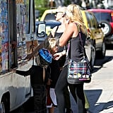 Gwen Stefani and Zuma and Kingston Rossdale Park Pictures
