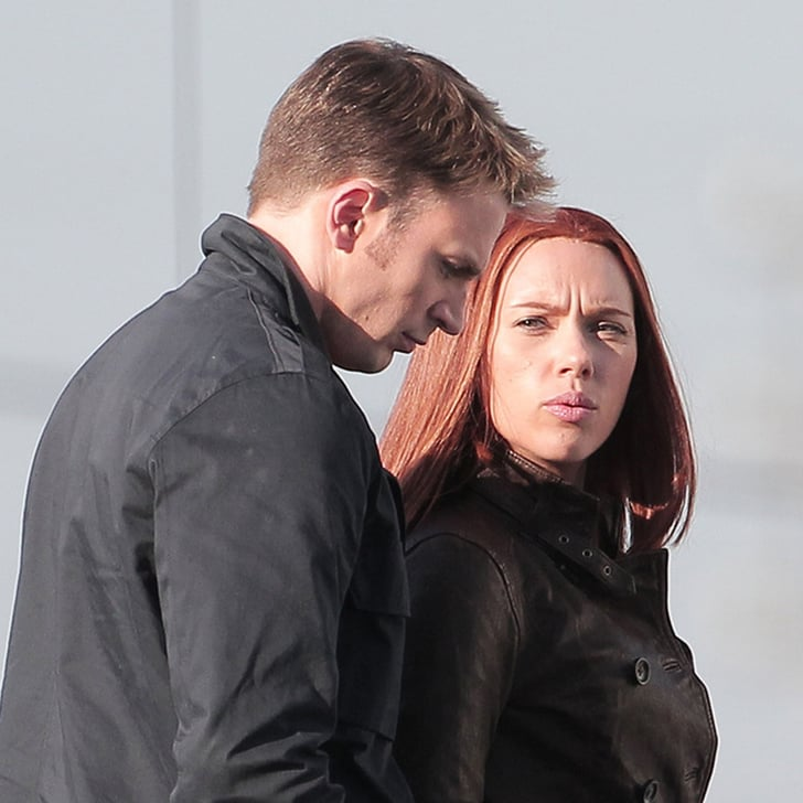 Scarlett Johansson And Chris Evans On Captain America 2