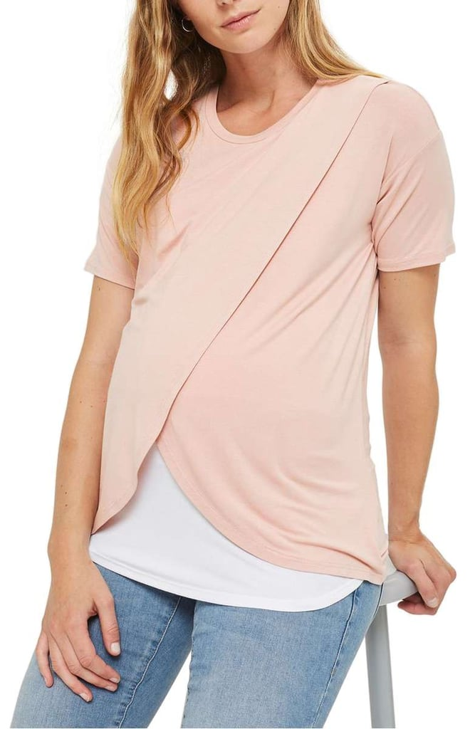 Pink Crossover Tee