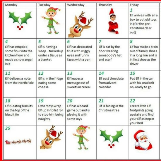Elf on the Shelf Cheat Sheet