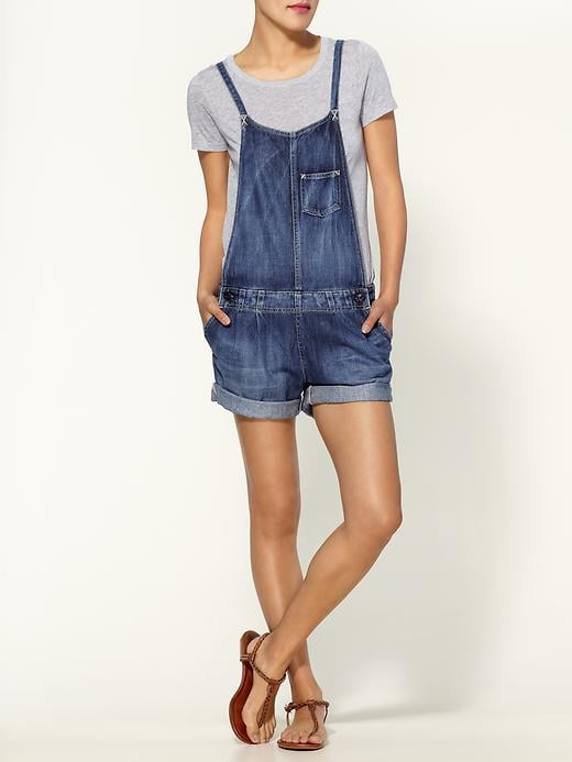 Slimmer straps give the '90s classic a cooler update — style this one up with a pair of cool wedges for a twist on brunch dressing.  AG Adriano Goldschmied The Chelsea Short Overalls ($198)