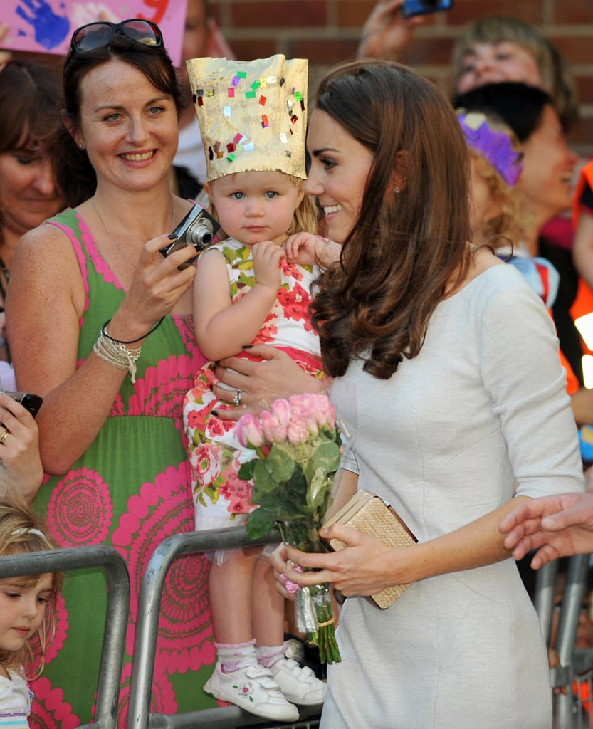 Kate Middleton pleased a crowd in London.