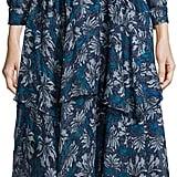 Rebecca Taylor Mystic Silk Chiffon Dress, Navy ($192, originally $550)