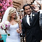 Julie Benz and Rich Orosco were glowing during their Cinco de Mayo wedding in Los Feliz, CA, in May 2012.
