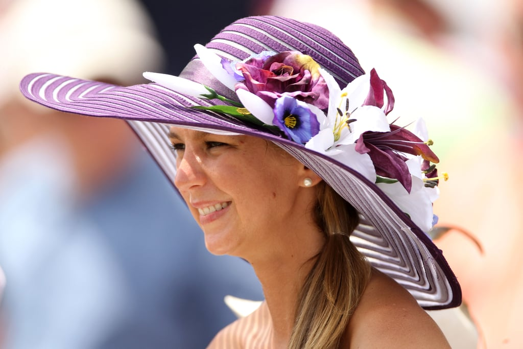Flowers decorated this hat at the 2012 Derby.