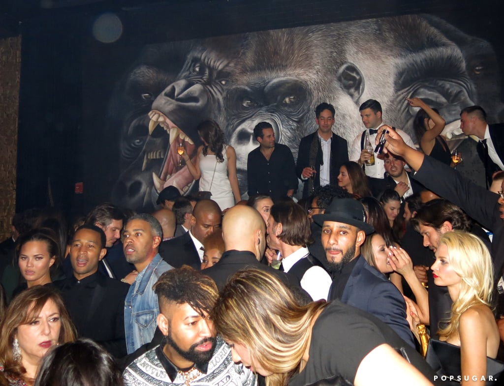 We spy Chrissy Teigen and John Legend; Swizz Beatz; Beyoncé's stylist, Ty Hunter; and maybe even Jim Toth in the top right.