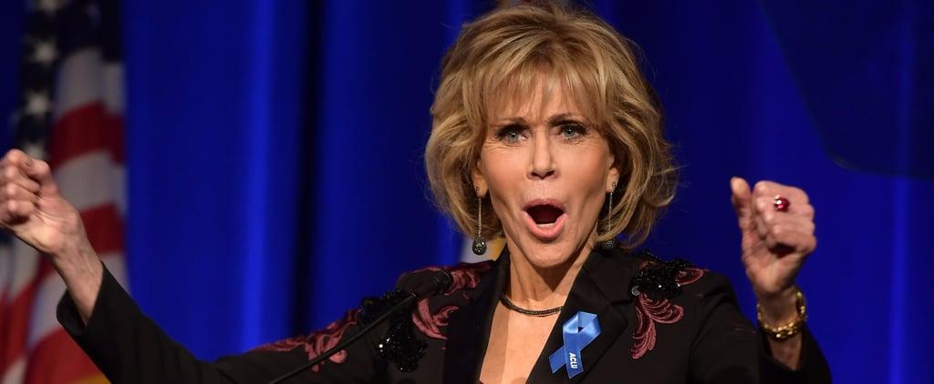 Jane Fonda Praising Colin Kaepernick Quote at ACLU Gala 2017