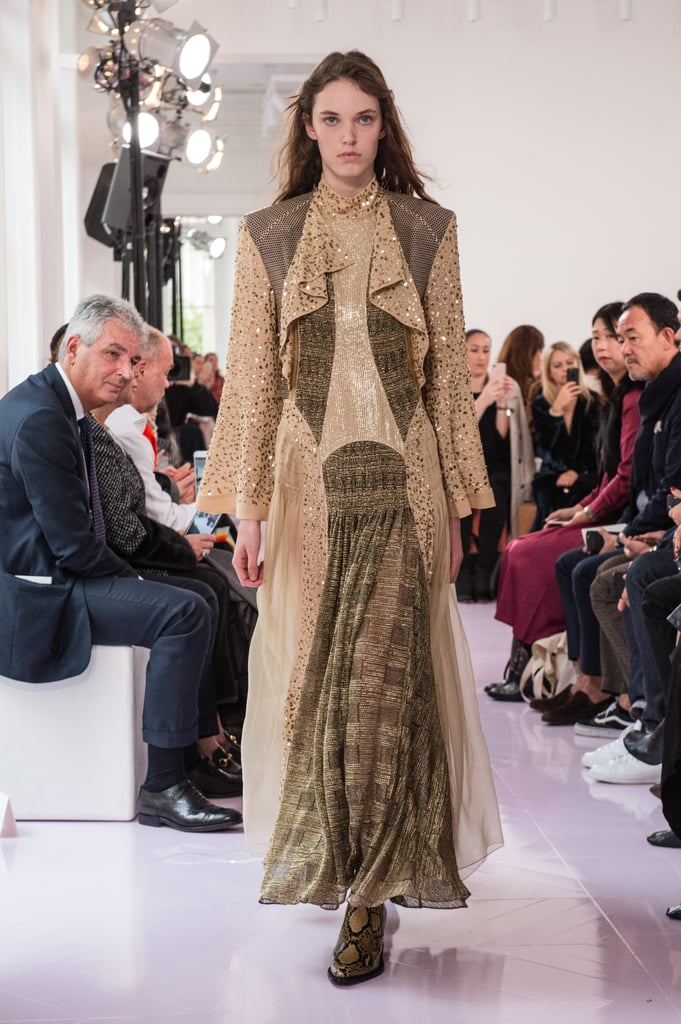 We'd love for the duchess to select something from Natacha Ramsay-Levi's debut collection for the Chloé brand. This neutral-toned gown is easy to style, and though it's more muted, it's certainly not boring, with a swathing of sequins that give off regal vibes.