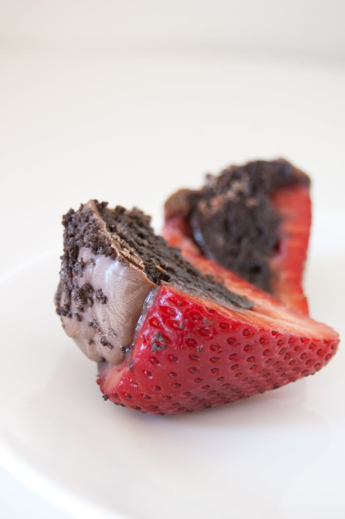 Oreo Truffle-Stuffed Strawberries