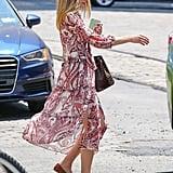 Olivia Palermo Wearing Nordstrom Chelsea28 Dress June 2016