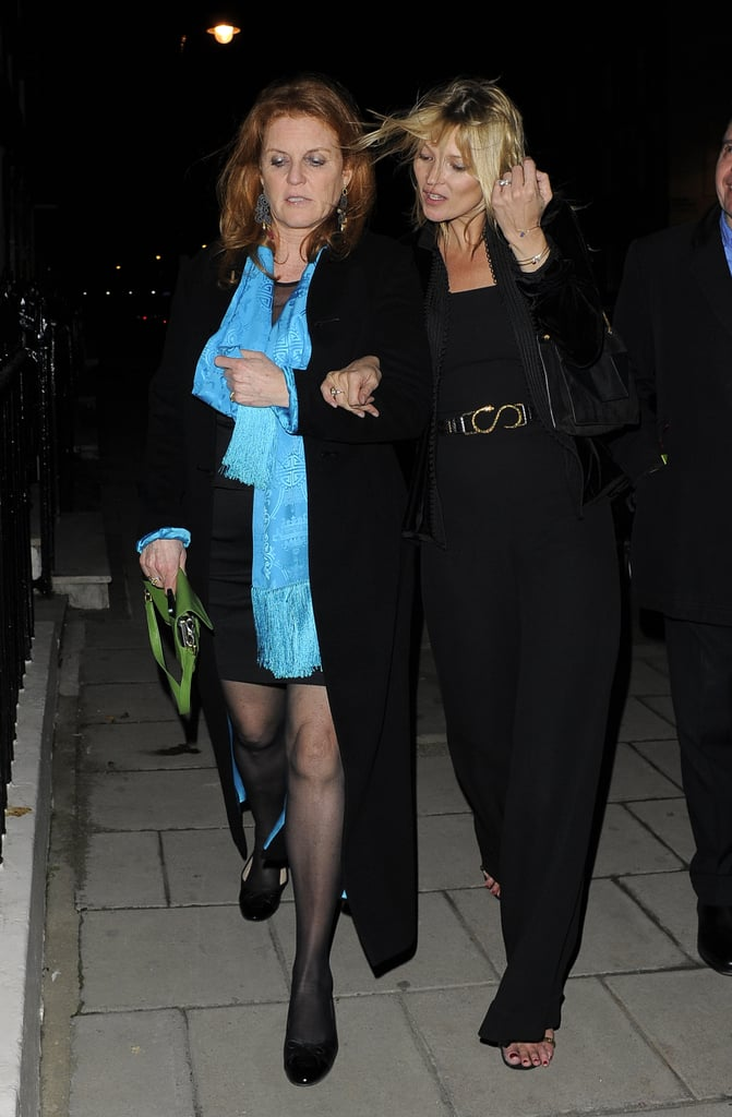 Sarah Ferguson and Kate Moss made an unlikely pair as they celebrated the Chinese New Year a bit early in London on February 5.