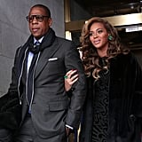 Jay-Z and Beyonce showed their support for President Obama at the 57th presidential inauguration.