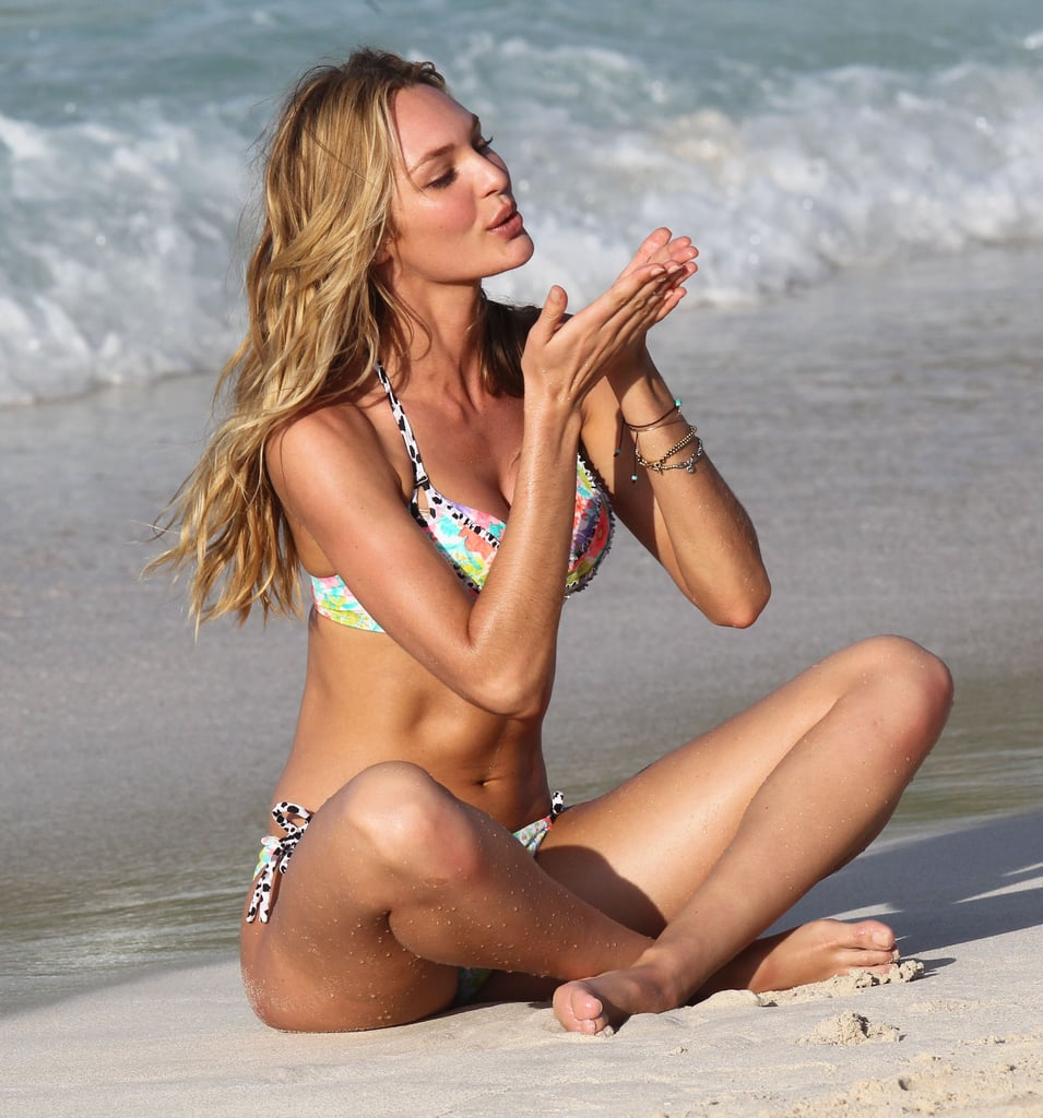 Candice Swanepoel did a photo shoot with Victoria's Secret.