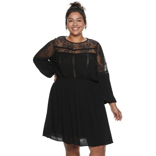 American Rag Plus Size Illusion Lace Dress | Cheap Holiday ...