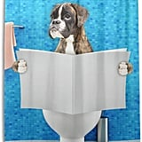 Boxer Dog Bathroom Shower Curtain