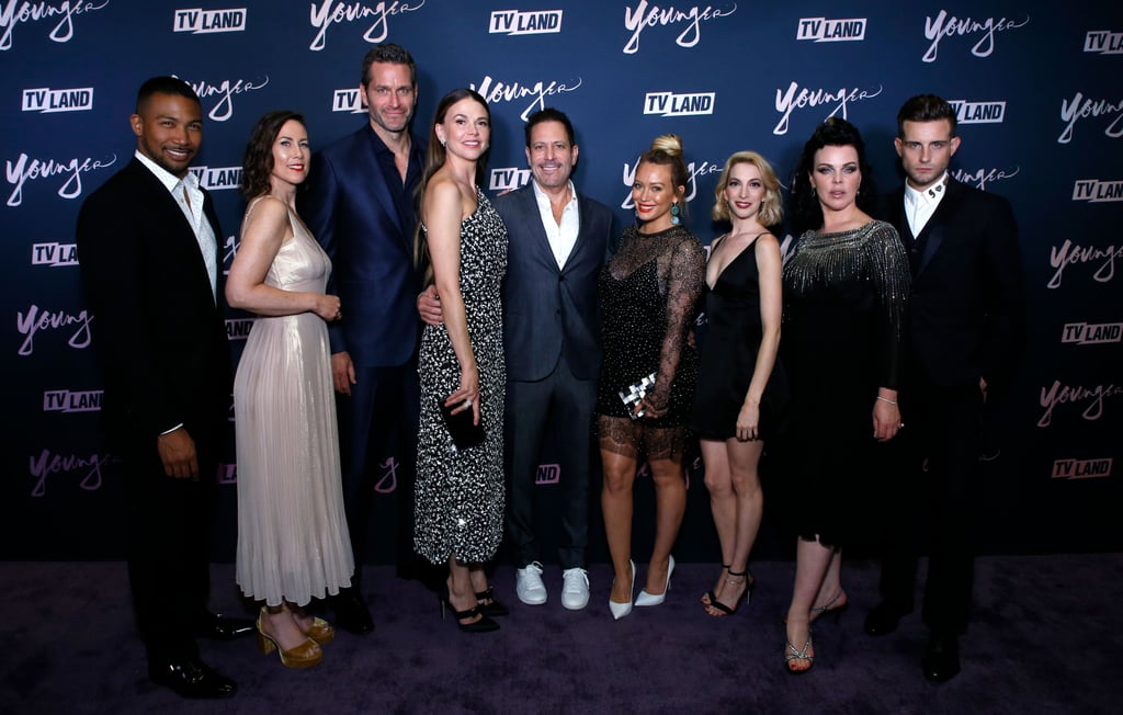 The cast of Younger certainly had a fun-filled night on Monday. Ahead of season five, the actors and actresses joined together for the show's premiere party in Brooklyn. Aside from looking absolutely stunning as they posed for the cameras, the cast shared a few sweet moments as they caught up on the red carpet. Sutton Foster and Hilary Duff looked like two best gal pals, while Molly Bernard and Nico Tortorella (who recently tied the knot with Bethany C. Meyers) showed some playful PDA.  As if their outing wasn't enough to make you excited for the upcoming season, the cast announced during the premiere party that they will be back for even more episodes! The series has officially been picked up for season six. Here's to even more sweet appearances like these in the future. See more photos from their big night ahead.