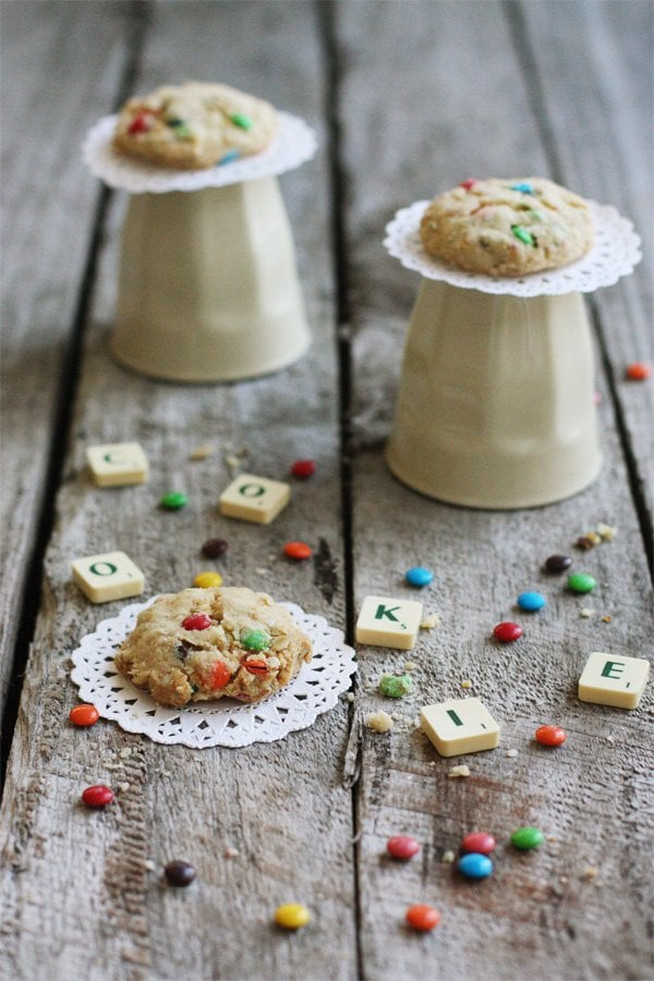 Quinoa M&M Cookies