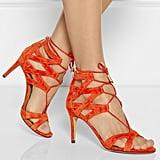 Aquazzura Beverley Hills Cutout Suede Sandals ($745)