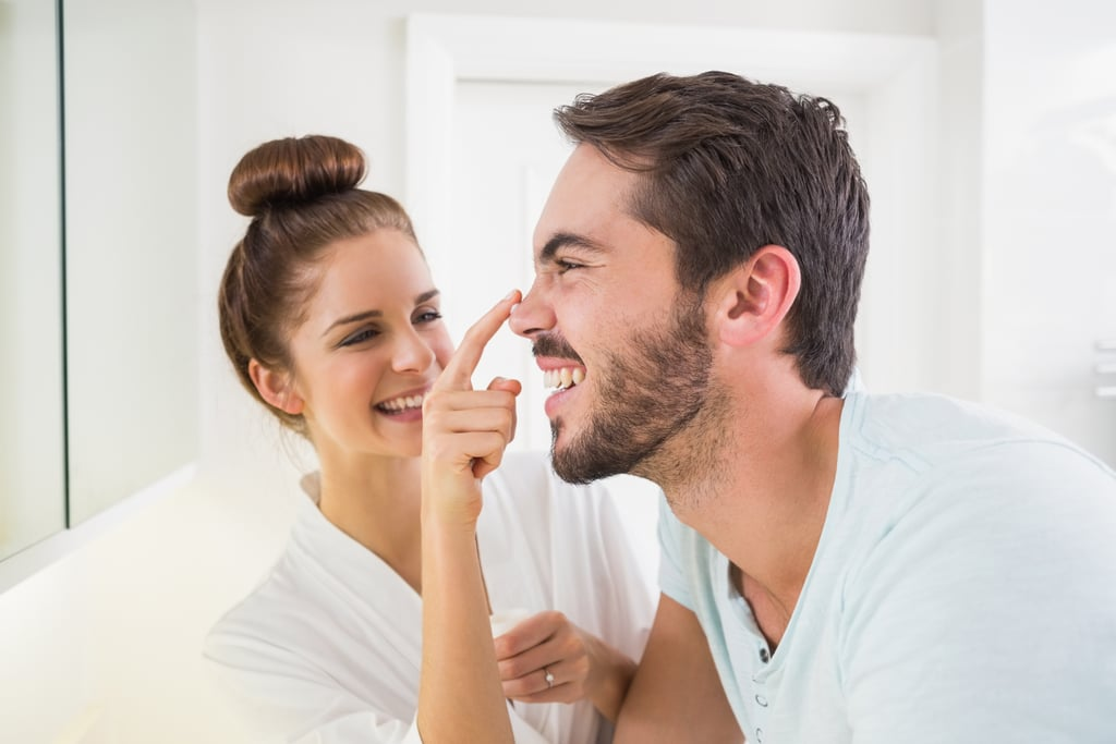 Men Trying Women's Beauty Products in Relationships