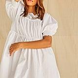 Boxy Piped-Trim Mini Dress