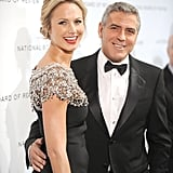 George Clooney and Stacy Keibler got dressed up to attend the National Board of Review gala in NYC, where George accepted the best actor honor for The Descendants in January 2012.