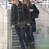 Jennifer Aniston and Justin Theroux looked happy together.