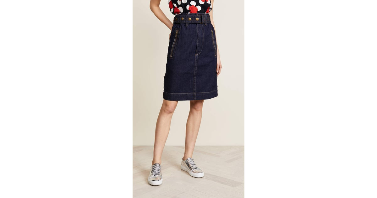 4b088f10e Marc Jacobs Denim Skirt With Zip Pockets | Melania Trump Denim Skirt |  POPSUGAR Fashion Photo 8