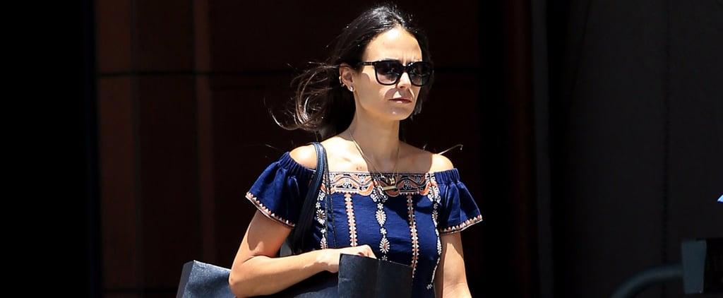 Jordana Brewster's Tory Burch Embroidered Dress July 2016