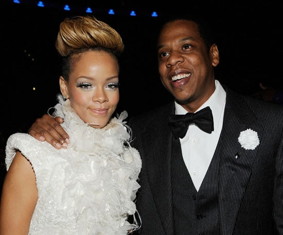 Slide Photo of Rihanna and Jay-Z at the Grammy Awards