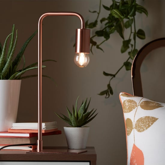 Copper Bedside Table Lamps