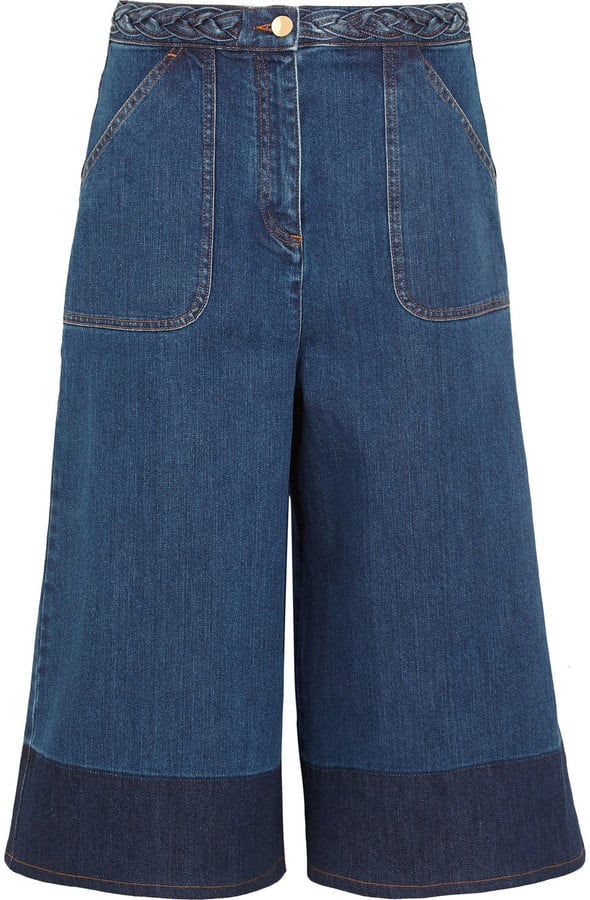 Valentino Two-Tone Denim Culottes ($990)