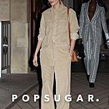 Hailey Baldwin Wearing Justin's Drew House Corduroy Set in Paris