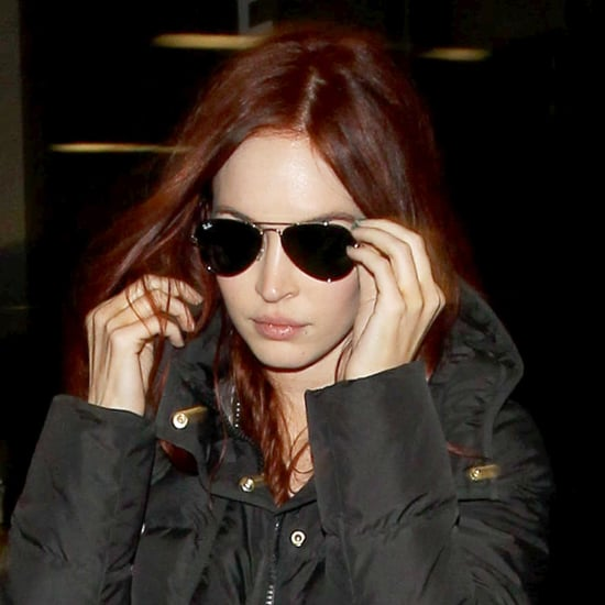 Megan Fox With Red Hair at Airport | Photos