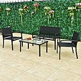Rattan Patio Furniture Set Wicker Conversation Set