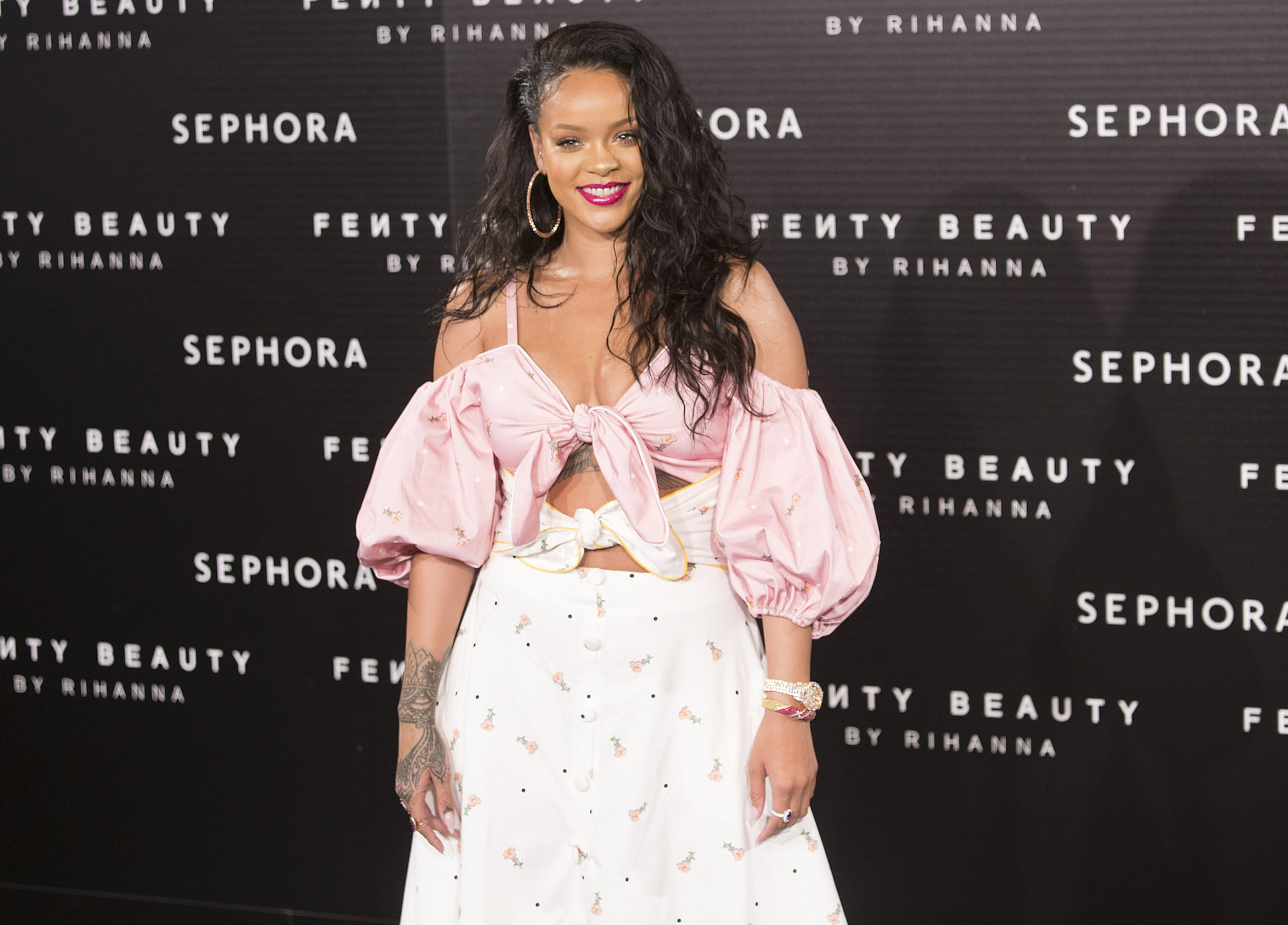 MADRID, SPAIN - SEPTEMBER 23: Rihanna attends Rihanna Fenty Beauty Presentation in Madrid on September 23, 2017 in Madrid, Spain. (Photo by Angel Manzano/WireImage)