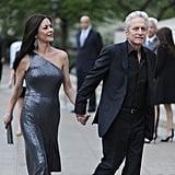 Michael Douglas led Catherine Zeta-Jones into the Vanity Fair Party at the 2012 Tribeca Film Festival.