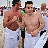 Lady Gaga, Taylor Kinney and Vince Vaughn Take Polar Plunge