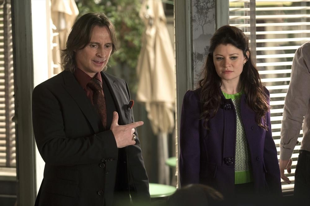 Rumpelstiltskin (Robert Carlyle) and Belle (Emilie de Ravin) on the show.