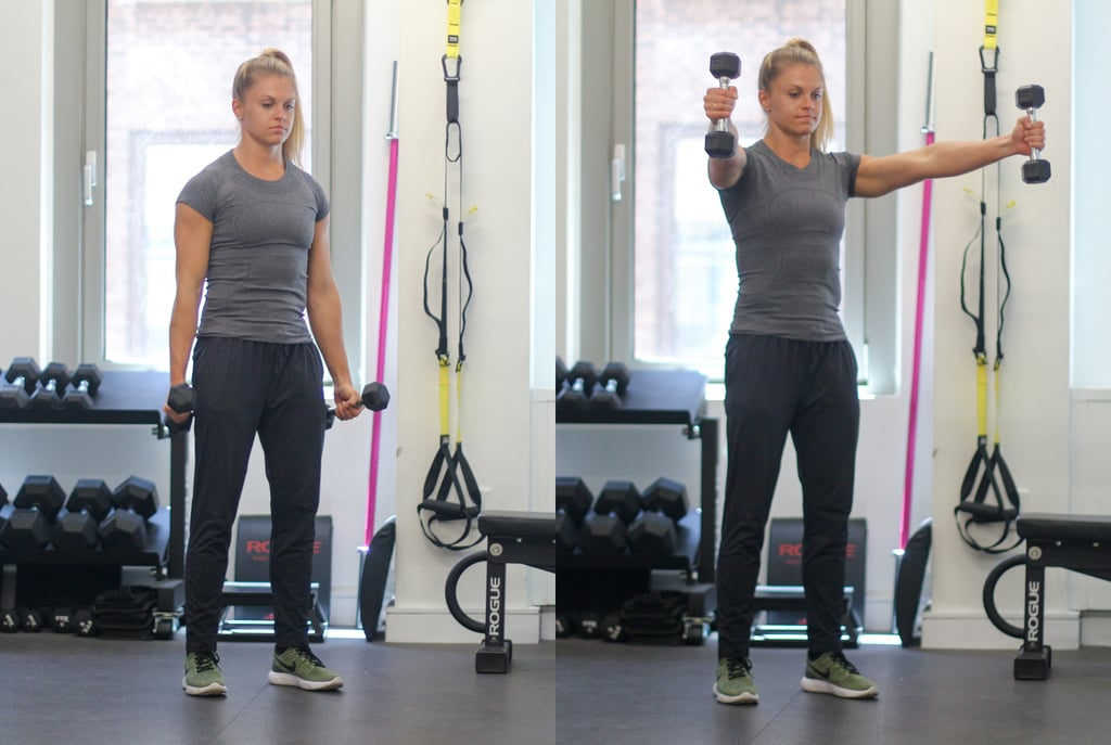 Circuit Two Dumbbell Scaption Raise