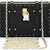 BCBG Max Azria Studded Faux-Leather Luggage Clutch ($188)