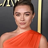 Florence Pugh's Accessorized Bun, 2020