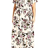 City Chic Lolita Floral Off the Shoulder Maxi Dress
