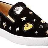 Christian Louboutin Miss Academy Velvet Slip-On Sneaker