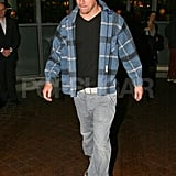 Channing Tatum wore a plaid jacket in London.